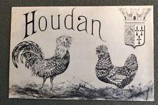 CPA. HOUDAN. 78 - Coq et Poule. Blason. Fantaisie. 1926?