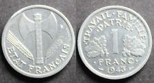 1 Franc FRANCISQUE, LÉGÈRE, 1943 SPL (1,34gr)