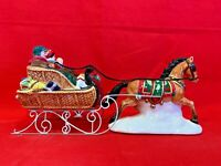 Holiday Sleigh Ride Together Department 56 Snow Village 54921 Christmas horse A