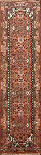 Geometric Heriz Oriental 10 ft Runner Rug Hand-Knotted Hall-Way 10' 1'' x 2' 8''