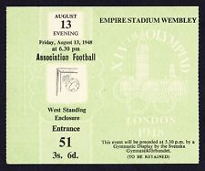 More details for 1948 london olympics football 13th august final sweden v yugoslavia ticket *exc*
