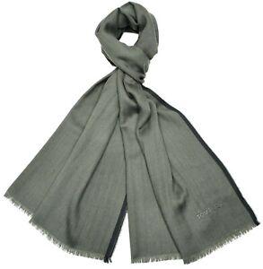 Tom Ford Scarf Cashmere Blend Green Herringbone 14SF0101 $450