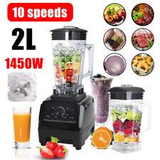 More details for 1450w adjustabl commercial  blender 2l food processor mixer smoothie ice crusher