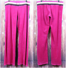 Juicy Couture Hot Pink Sweat Pants Size Large Magenta Stripe Classic Soft Style