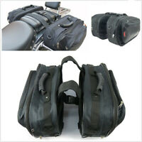 2*Universal Oxford 36-58L Saddle Bags Luggage Pannier Helmet Tank Bag&Rain Cover