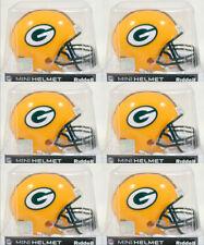 GREEN BAY PACKERS - Riddell VSR4 Mini Helmet (6 PACK LOT)