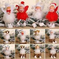 Christmas Angel Plush Doll Toy Xmas Tree Hanging Pendants Ornaments Home Decor