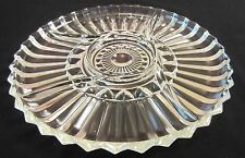 Indiana Glass 1007-Clear Relish Dish Serving Tray Round Divided Curvy   - 12""