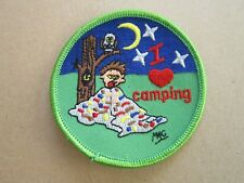 I Love Camping Cloth Patch Badge Boy Scouts Scouting L5K G