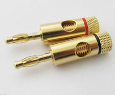 2Pcs Speaker Terminal Open Screw Connectors Gold-plated Banana Plug up to 7mm
