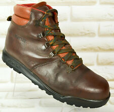 ALFA KIKUT Mens Brown Leather Walking Hiking Boots Vibram Size 8 UK 42 EU