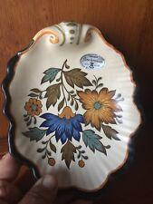 Flora Keramiek Gouda Plateel Holland Hand Painted Pottery SCALLOPED BOWL ❤️m17