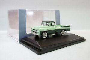 Oxford - DODGE D100 SWEPTSIDE pickup 1957 vert Voiture US Neuf HO 1/87