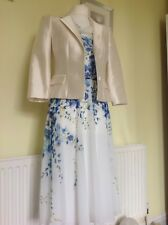 BEAUTIFUL IVORY FLORAL DRESS SUIT FROM HOBBS UK10 RRP £400.00