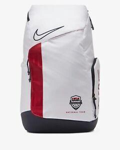 Nike Hoops Elite Pro Backpack Team USA BASKETBALL CQ7282-100 White Obsidian NEW