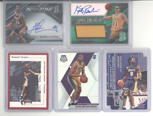 Los Angeles Lakers auto jersey serial # 10 card lot Kobe Bryant Smooth Operators
