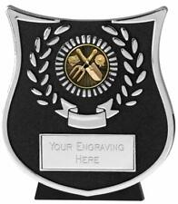 Emblems-Gifts Curve Silver Gardening Plaque Trophy With Free Engraving