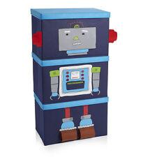 Kids 3 Pack Stackable Storage Box Girls Boys Bedroom New Robot