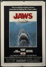 Jaws 1975 Original 27X41 Linen-Backed Movie Poster Roy Scheider Robert Shaw