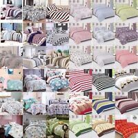 New Cotton Duvet Cover Set Quilted Duvet Cover With Pillow Cases, Fitted Sheet