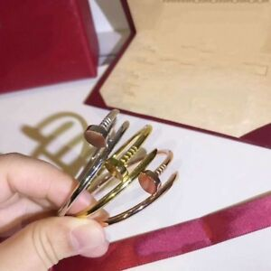 Stunning Unisex Gold Filled Nail Design Bangle Bracelet