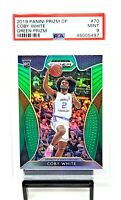 2019 Prizm GREEN REFRACTOR Bulls RC Star COBY WHITE Rookie Basketball Card PSA 9