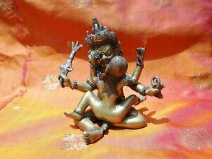 BUDDHA SHAKTI EROTIC STATUE BRONZE HANDMADE KAMASUTRA INDIA 2 lbs ASIA T