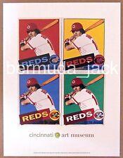 PETE ROSE POST CARD-CINCINNATI REDS BASEBALL ART MUSEUM - ANDY WARHOL PRINT