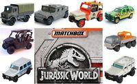 2018 Matchbox Jurassic World Jurassic Park Diecast Metal Car Jeep Unimog GLE