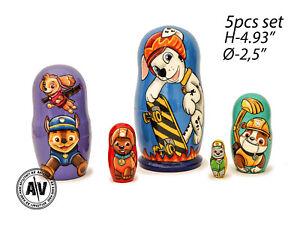 Paw Patrol stacking doll, Disney nesting dolls, Paw Patrol toy, Baby matryoshka