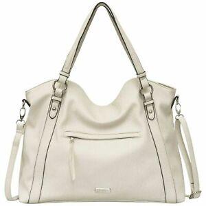 Jessica Simpson Kai Gardenia JS53580 White Tote Large Handbag