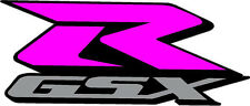 "#530 (1) 4""  Suzuki GSXR Racing Race Bike Custom Decal Sticker LAMINATED PINK"