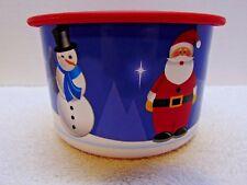 Tupperware Winter Wonderland Christmas Canister Set … 2.5 Cups ea.