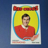 MICKEY REDMOND  1971-72  O-Pee-Chee  # 102  OPC  Canadiens  DETROIT RED WINGS