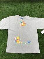 VTG Disney Winnie the Pooh Men 2XL Grey Short Sleeve Tee Shirt