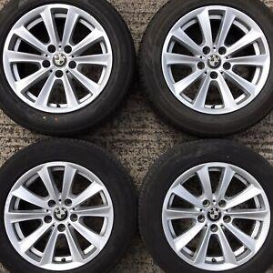 "Set Genuine BMW 5 6 Series 17"" Alloy Wheels 225 55 Tyres F10 F11 F12 236 6780720"