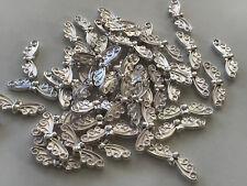 50 Engelsflügel Flügel hell silber 22 x 6  mm Metallperle Spacer Perlen 5033