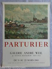 Affiche lithographique Mourlot - Exposition Parturier 1963 - Galerie André Weil