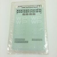 Microscale Decal Western Pacific WP Freight Cars HO 87-220