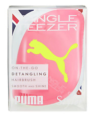 Tangle Teezer ON-THE-GO PUMA NEON YELLOW/PINK brush FREE DELIVERY SALE 50%OFF