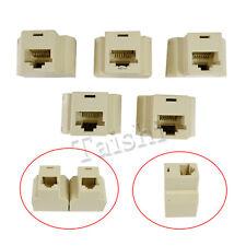 5x RJ45 Y Ethernet LAN ISDN Adapter Kupplung Splitter Verteiler Coupler Netzwerk