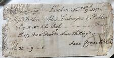 More details for 1791 rare 18th century cheque, london.banking/financial