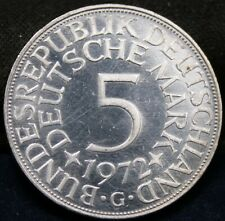 Germany 5 Mark 1972 G - Proof - Impaired