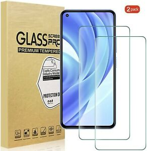 (2 Pack) Tempered Glass Screen Protector For Xiaomi Mi 11 Lite 5G