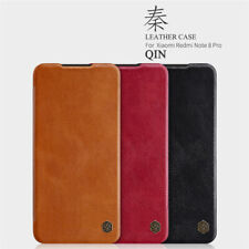 NILLKIN QIN For Xiaomi Redmi Note 9S 9 8 Pro Slim Leather Card Flip Case Cover