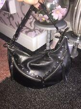 2d Beautiful Star Julien Macdonald Black Rock Stud soft Leather Shoulder Bag