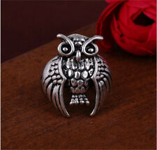Hot New Men's Woman  316L Stainless Steel Vogue Design Mini Owl Ring Size 8