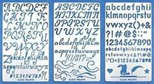 Metal Alphabet Stencils Letter Number Abc Templates Engraving Scrapbooking 3 Pcs