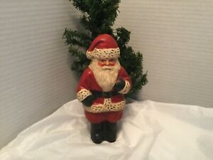 Nick Moon Face Ornaments Pure Beeswax Old Time Santa//St Set of Two-Hand Made