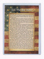 2018 THE BAR 1/1 President Ronald Reagan Pieces of the Past News Relic Article